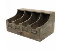 Boîte de Rangement Coffre Coffret Casier à Couvert Bois 39x20x20 cm - Objet à poser