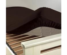 Drap housse coton INTIMITY 180x200 CACAO - Linge de lit