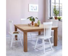 Table à manger carrée en bois de teck 6 à 8 couverts - Tables salle à manger
