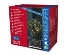 KONSTSMIDE 3748-103 FILET LUMINEUX 32 LED BLANC CHAUD + CÂBLE TRANSPARENT 24 V - Appliques et spots