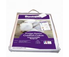 Protège Matelas Confort Coton Imperméable Saniproof Dunlopillo 90X190 Cm - Linge de lit