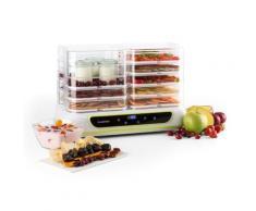 Klarstein Yoyofruit Déshydrateur alimentaire & yaourtière 2x 5 étages 550W blanc - Conservation