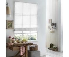 Store Bateau Lin - 120 x 220cm-Blanc - Fenêtres et volets