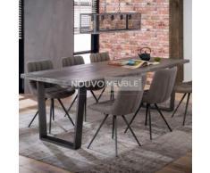 Table à manger industrielle en bois SALEM - L 230 x P 95 x H 76 cm - Tables salle à manger