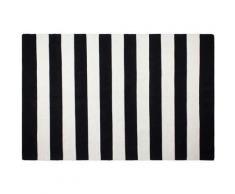 Fabhabitat - Tapis intérieur extérieur Nantucket noir et blanc 150 x 90 cm - Tapis et paillasson