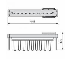 EMUCA 7086613 Cravates/Porte-Ceintures latérale extractible avec Fermeture amortie pour Armoire, Finition Peint Moka - Armoire