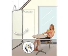 Paravent extérieur, intérieur Ivoire en polyester 140 g/m² anti-UV avec 1 panneau, 170 x 70 cm -PEGANE- - Objet à poser