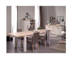 Salle à Manger Complète Frêne/Chêne - CRAFTY - L 256 x l 90 x H 78 - Tables salle à manger