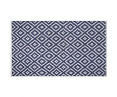 Tapis intérieur extérieur Chanler bleu 150 x 90 cm - Tapis et paillasson