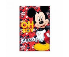 Plaid polaire Mickey Mouse couverture enfant Disney rouge oh Boy - Textile séjour