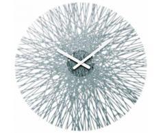 Koziol - Horloge murale SILK Anthracite Transparente - Décoration murale