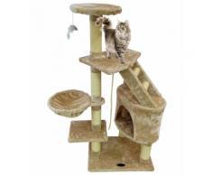Perchoir pour Chat, Arbre à Chat, 120 cm, 5 perchoirs, Beige, Matériau: MDF - Objet à poser