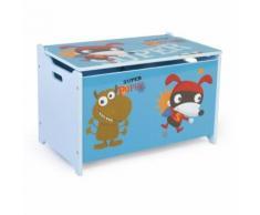 Coffre à jouets en bois meuble chambre enfant motif monstre 60x38x35cm APE06044 - Objet à poser