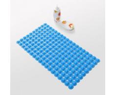 Tapis antidérapant moderne en PVC 40 x 70 cm Bleu - Accessoires de bain