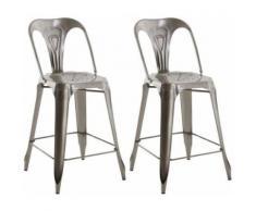 Chaise de bar esprit industriel (Lot de 2) - Tabourets