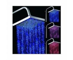Pomme douche pluie lumineux douchette indicateur temperature led vert bleu rouge - YONIS - Accessoires salles de bain et WC