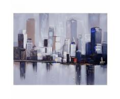 Tableau à l'huile, New York, peint à la main à 100%, toile de décoration murale XL ~ 120x90cm - Décoration murale