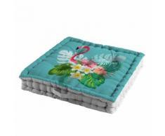 coussin de sol 60 x 60 x 10 cm coton imprime exotic life - Textile séjour