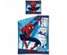 2 pièces Parure de lit enfant Housse de couette 140 x 200 + 70 x 80 Spiderman, 100% coton - Linge de lit