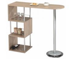 Table haute de bar VIGANDO MDF décor chêne sonoma - Tables hautes
