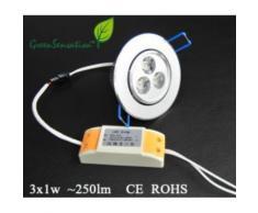 Spot encastrable et orientable à Led avec transformateur 12v pour plafonnier ... - Ampoules à LEDs