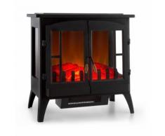 Klarstein Innsbruck Cheminée électrique effet flammes chauffage réglable 1000/2000W thermostat - noir - Chauffage et ventilation
