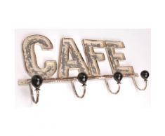 Patère café en métal 46,5 x 21 cm - Autres