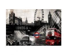 LONDON PATCH Tableau déco sur Toile imprimée 60x90 - Décoration murale