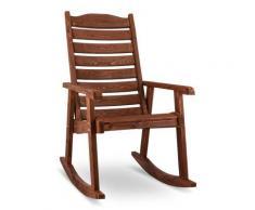 Blumfeldt Alabama Fauteuil à bascule Chaise de jardin Bois massif Marron - Objet à poser