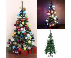 Homdox Sapin de Noël en PVC Décoration de vacances 150cm de haut 300tips - Objet à poser