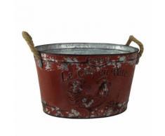 Bac à plantes avec motif 'Le Coq En Pate' (Taille unique) (Rouge) - UTGG218 - Bougeoir, bougie et senteur