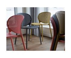 Chaise de jardin - Chaise anthracite - Chaise en plastique - Holmdel - Chaise
