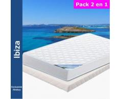 Ibiza - Pack Matelas + Tapissier 130x190 - Ensembles matelas et sommier