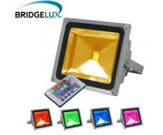 Projecteur LED extérieur - 30W - RGB - Multicolore - Ampoules à LEDs