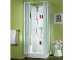 Leda - Cabine de douche Izi Box carré verre granité 80 x 80 cm - L11IZ887 - Installations salles de bain