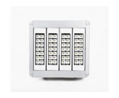 Projecteur LED grande hauteur 160W 376 mm X 395 mm X 95 mm angle 60° 16000lm IP65 4000K, blanc neutre lumière du jour équerres ajustables et câbles 3m inclus - Suspensions et plafonniers