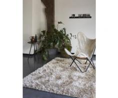 Tapis COOL GLAMOUR shaggy laiton Esprit Home Gris argenté 120x180 - Tapis et paillasson