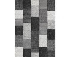 BELIS Tapis de salon 80x150 cm Gris noir et Blanc - Tapis et paillasson