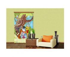 AG Design fCC l/4110 rideau voilage pour chambre d'enfant motif winnie l'ourson de disney - Objet à poser