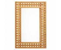 Paris prix - miroir de salle de bain 'bambou' 70cm naturel - Miroir