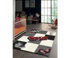 CARS Tapis pour enfant 120x170 cm gris, noir et blanc - Tapis et paillasson