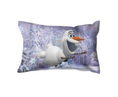 Coussin rectangulaire violet - 36 x 22 cm - Olaf la reine des neiges - Textile séjour