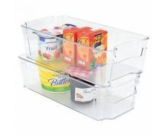 Boîte de Rangement pour Réfrigérateur Plastique Transparent 31,5 x 16 x 9 cm 5 L - Meubles de cuisine