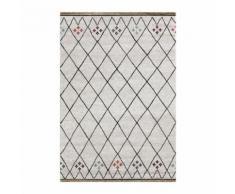 TOUAREG Tapis de salon style berbere - 120 x 170 cm - 100% polypropylene - Beige creme et multicolore - Tapis et paillasson