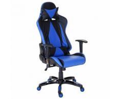 Chaise fauteuil de bureau Loksa T682 XXL, chaise pivotante, charge 150kg similicuir ~ bleu - Sièges et fauteuils de bureau