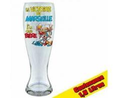 Verre à bière - LA VICTOIRE DE MARSEILLE - 29 cm - Verrerie