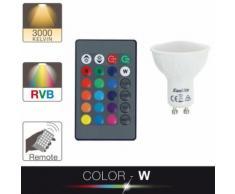 Ampoule LED spot - cuLot GU10 - blanc et multi-color - Lampes