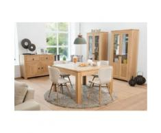 Table carrée boston - bois chêne massif blanchi - Tables salle à manger