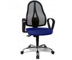 Siège de bureau Topstar / Siège pivotant OPEN POINT P SOMO AL.B2(B), tissu maille bleu - Sièges et fauteuils de bureau