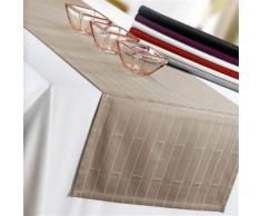 Chemin de table Bricks taupe 55 x 150 cm Winkler - Linge de table